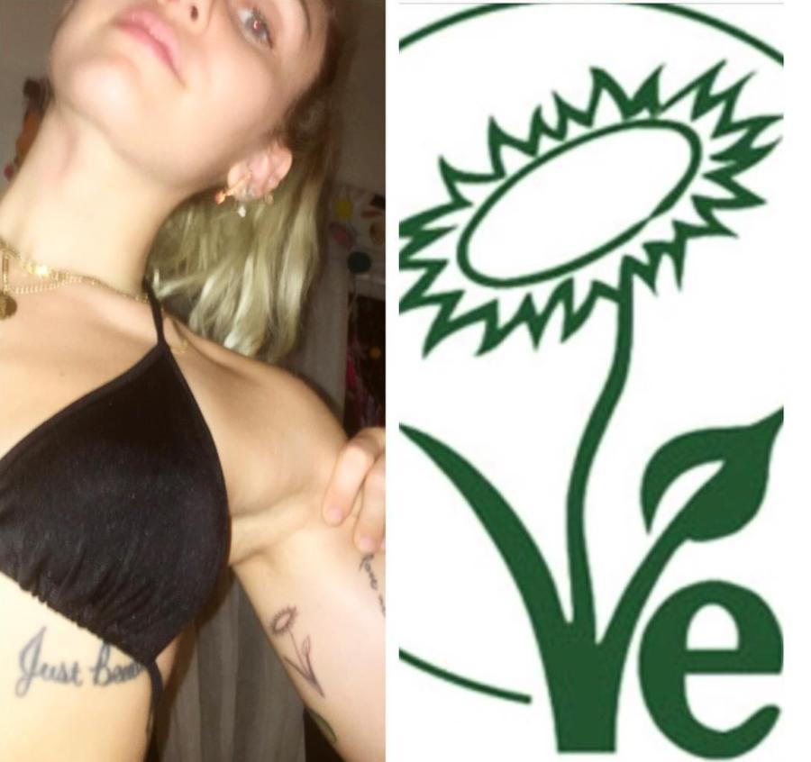 Miley 0 - Miley Cyrus si fa un tatuaggio ispirato al marchio Vegan