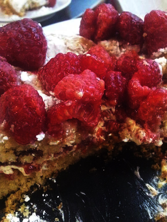 Vegan Victoria Sponge cut - Pan di Spagna alla vaniglia - torte-meringhe-e-dessert, ricette-vegane-