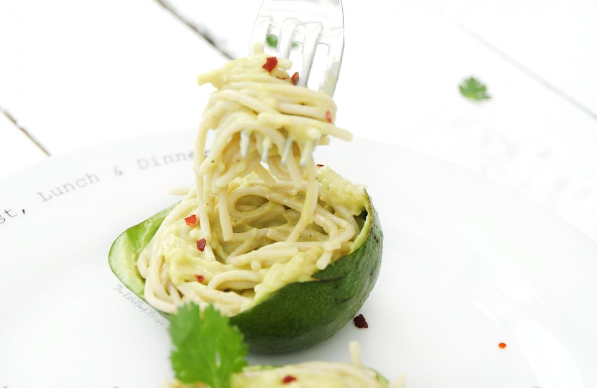Spaghetti all'avocado
