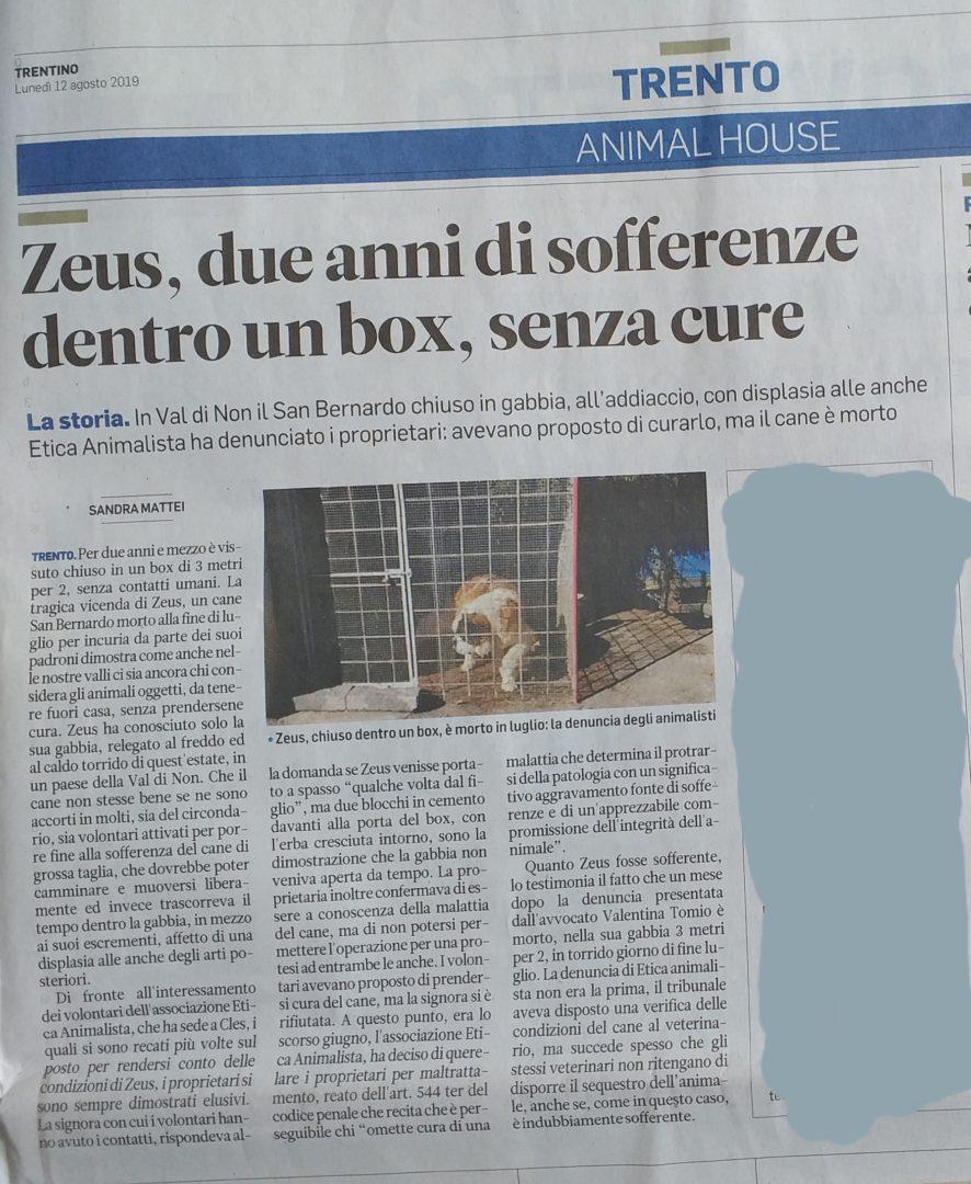 La vergognosa storia di Zeus